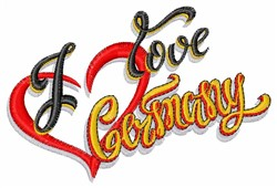 I Love Germany embroidery design