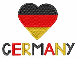 Love Germany embroidery design
