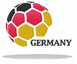 Germany Football embroidery design