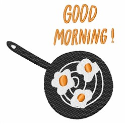 Good Morning Eggs embroidery design