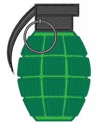 Grenade embroidery design