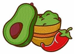 Guacamole & Chilie embroidery design