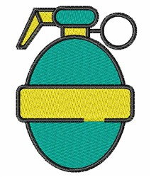 Hand Grenade embroidery design