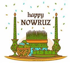Happy Nowruz embroidery design