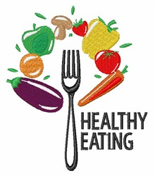 Healthy Eating embroidery design