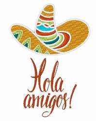 Hola Amigos embroidery design