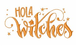 Hola Witches embroidery design