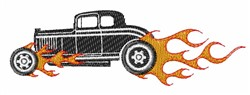 Flaming Car embroidery design