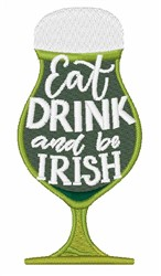 Be Irish embroidery design