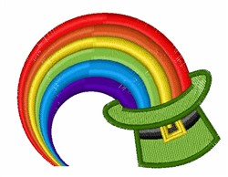 Rainbow In Hat embroidery design