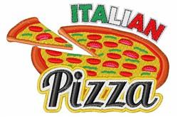 Italian Pizza embroidery design
