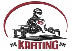Karting embroidery design