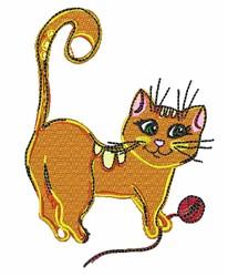 Cat & Yarn embroidery design