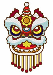 Chinese Mask embroidery design