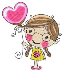 Balloon Girl embroidery design