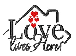 Love Loves Here embroidery design