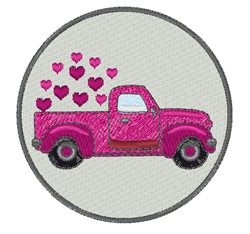 Valentine Truck embroidery design