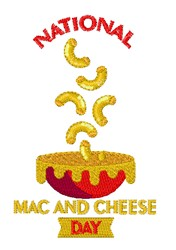 Mac & Cheese Day embroidery design