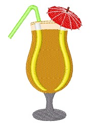 Tropical Cocktail embroidery design