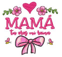 Mama embroidery design