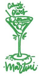 Olive Martini embroidery design