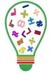 Math Bulb embroidery design