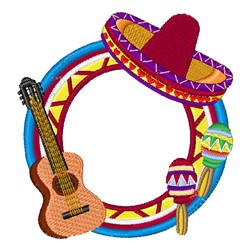 Spanish Music embroidery design