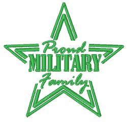 Military Family embroidery design