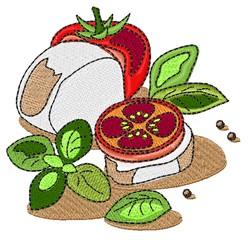 Caprese Salad embroidery design