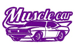 Muscle Car embroidery design