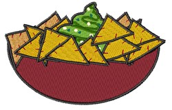 Dip & Chips embroidery design