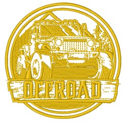 Off Road embroidery design