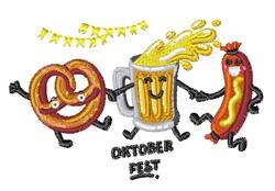 Pretzel Beer Sausage embroidery design