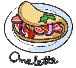 Omelette embroidery design