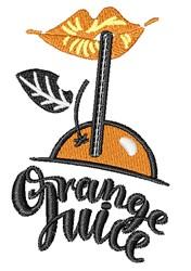 Orange Juice embroidery design