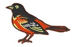 Robin embroidery design