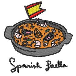 Spanish Paella embroidery design