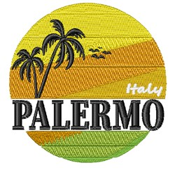 Palermo Italy embroidery design