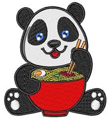 Panda & Noodles embroidery design
