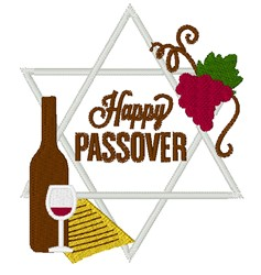 Happy Passover embroidery design