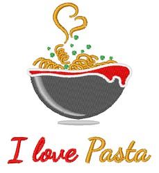 Love Pasta embroidery design