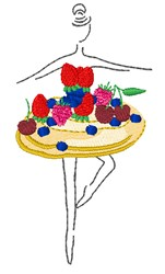 Pavlova Dancer embroidery design