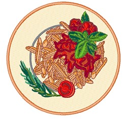 Penne Pasta embroidery design