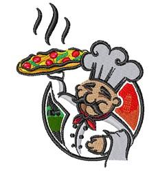 Pizza Chef embroidery design