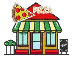 Pizza Restaurant embroidery design