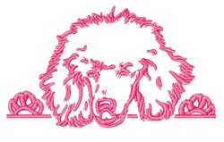 Poodle Outline embroidery design