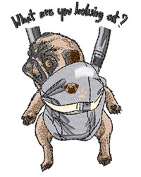 Papoose Pug embroidery design