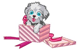 Puppy Gift embroidery design