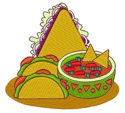 Mexican Food embroidery design