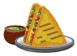 Tacos embroidery design